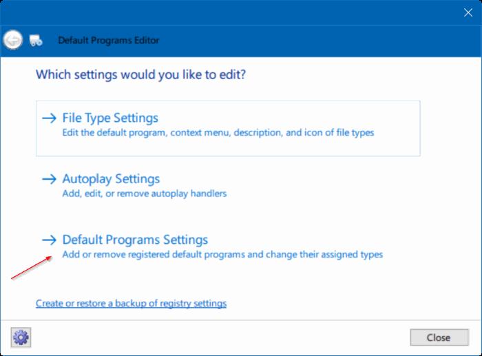 Corregido por no poder cambiar el navegador web predeterminado o las aplicaciones Windows 10 pic5