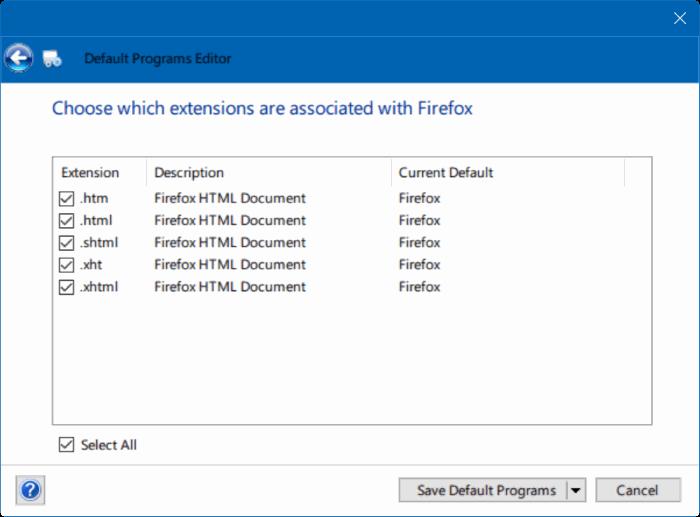 corregido al no poder cambiar el navegador o aplicaciones web predeterminados Windows 10 pic7