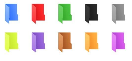 cambiador de color de carpeta para Windows 10