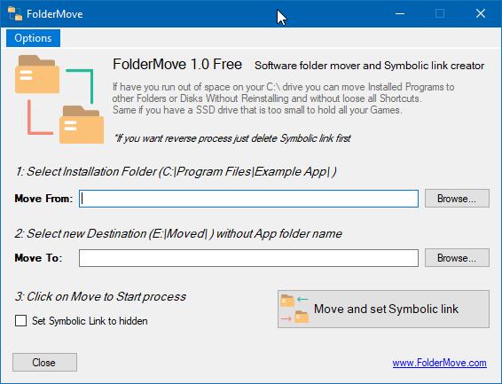 foldermove mover los programas y juegos instalados en Windows 10 pic01
