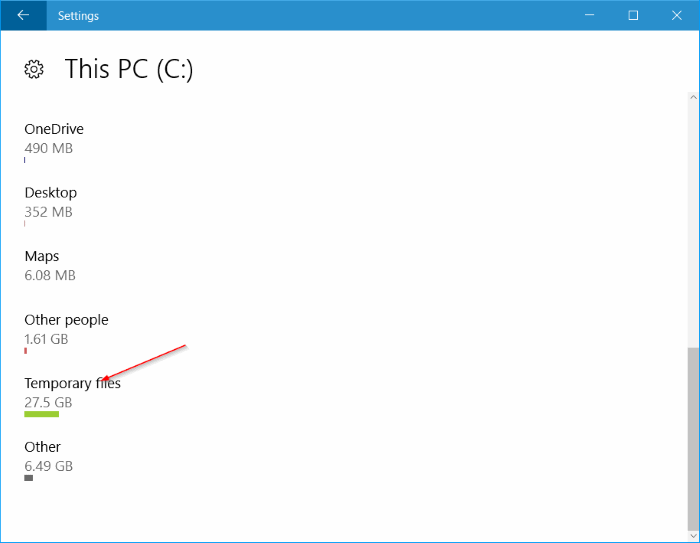 liberar espacio en disco después de la actualización del aniversario de Windows 10 pic2