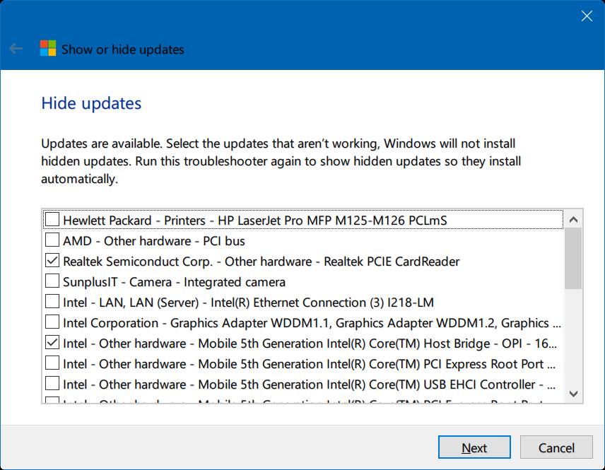 ocultar actualizaciones de Windows 10 pic2