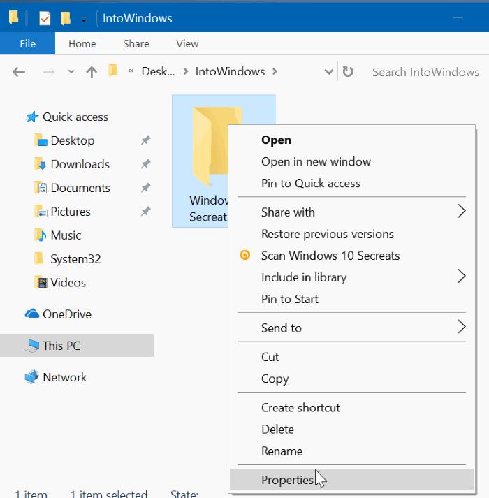 ocultar archivos y carpetas en Windows 10 pic1