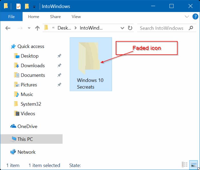 ocultar archivos y carpetas en Windows 10 pic3