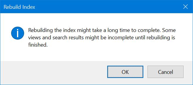 ocultar archivos y carpetas de los resultados de búsqueda en Windows 10 pic7