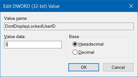 ocultar la dirección de correo electrónico del nombre de usuario en la pantalla de inicio de sesión en Windows 10 step6
