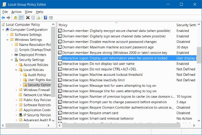 ocultar la dirección de correo electrónico del nombre de usuario en la pantalla de inicio de sesión en Windows 10 step8