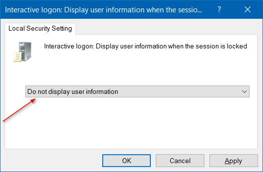 ocultar la dirección de correo electrónico del nombre de usuario en la pantalla de inicio de sesión en Windows 10 step9