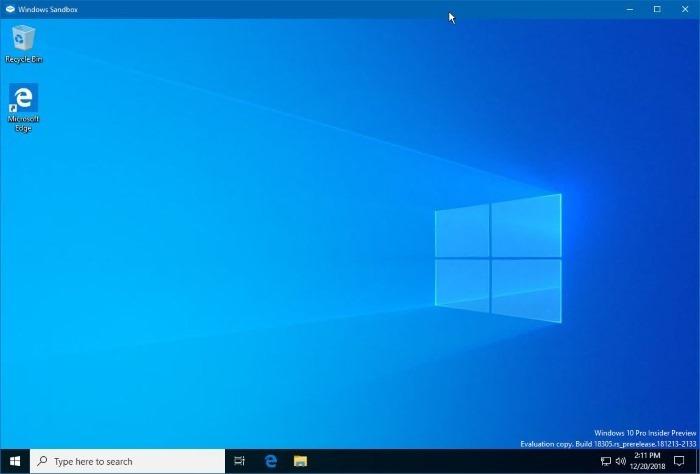 cómo usar el arenero de Windows en windows 10 pic1