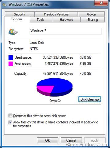 eliminar todos los puntos de restauración excepto los recientes en Windows 7 step2