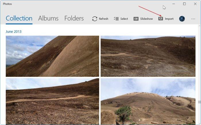 import iphone photos to Windows 10 pc pic03
