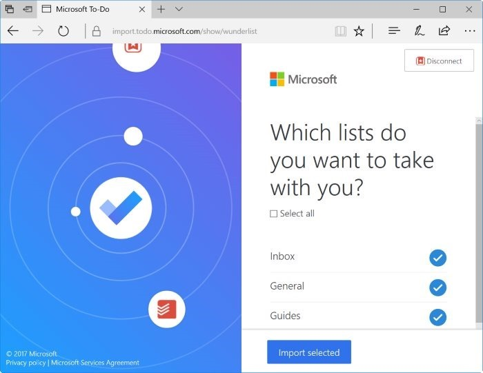 importar wunderlist y todoist a Microsoft To-Do pic5