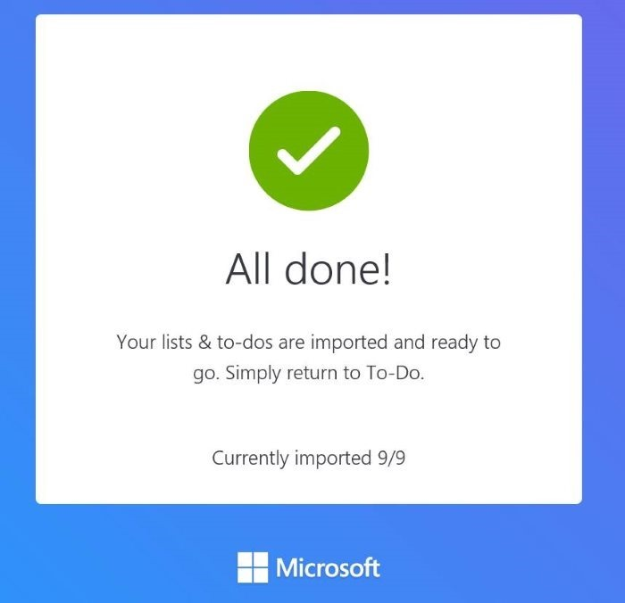importar wunderlist y todoist a Microsoft To-Do pic7