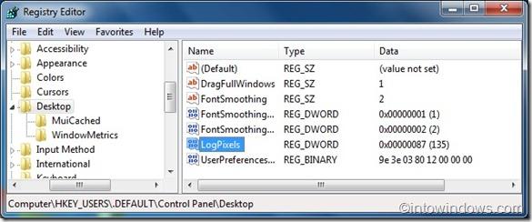 aumentar el tamaño del texto de inicio de sesión en windows 7