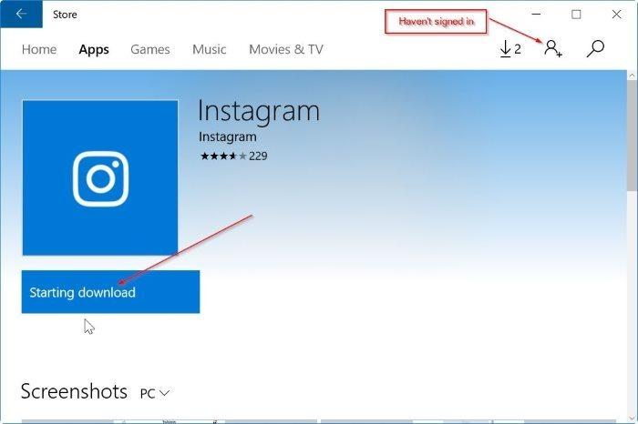 instalar aplicaciones de Windows 10 store sin microsoft account pic1