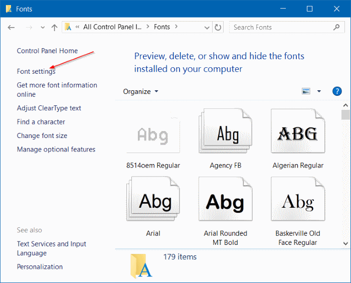 instalar fuentes como acceso directo en Windows 10 step3