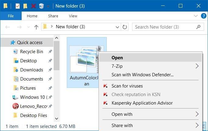 instalar o eliminar temas en Windows 10 step1