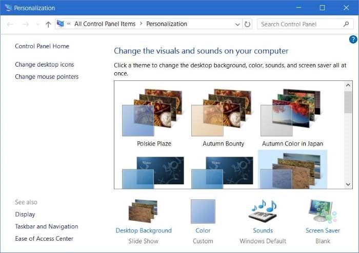 instalar o eliminar temas en Windows 10 step4