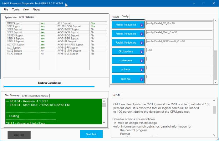 intel processor diagnostic tool for Windows 10 pic3