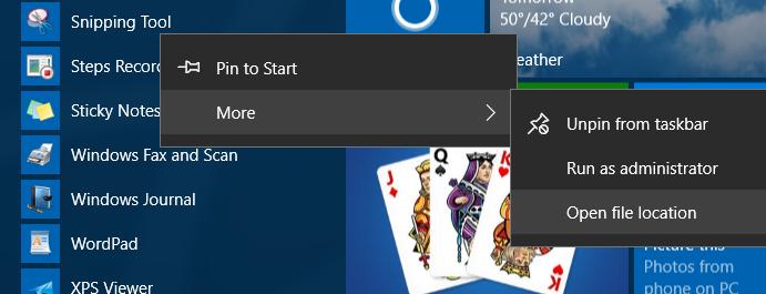 método abreviado de teclado para cortar la herramienta en windows 10 step1
