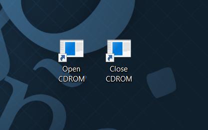 método abreviado de teclado para abrir la bandeja de CDDVD en Windows 10 pic3