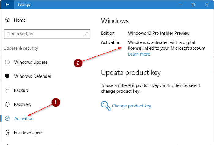 vincular la licencia de Windows 10 a la cuenta de Microsoft