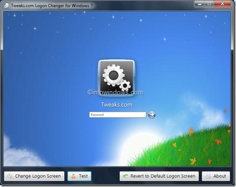 Logon screen background utility