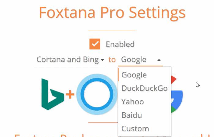 hacer que Cortana use Google en lugar de Bing en Windows 10
