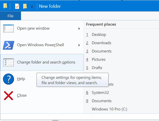 abrir archivos y carpetas con un solo clic en Windows 10 pic1