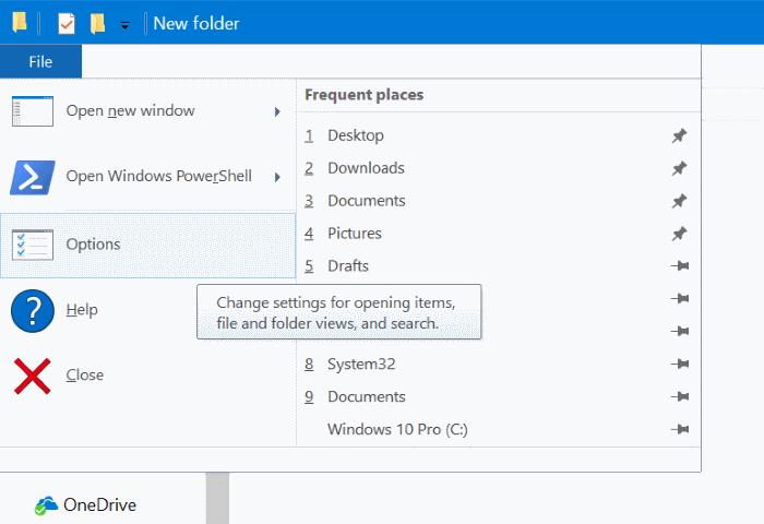 abrir archivos y carpetas con un solo clic en Windows 10 pic2