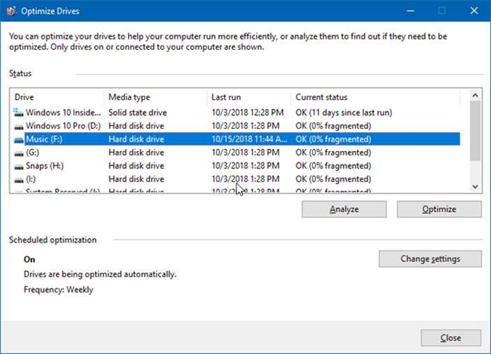 optimizar unidades en windows 10 pic1