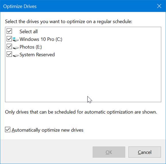 optimize drives4