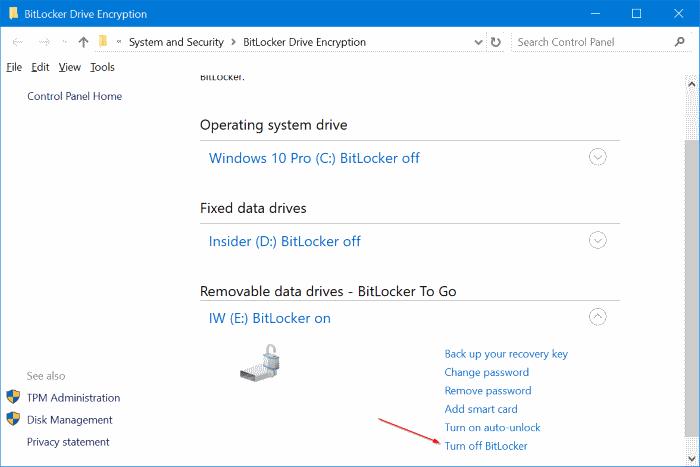 proteger con contraseña las unidades USB en Windows 10 pic11