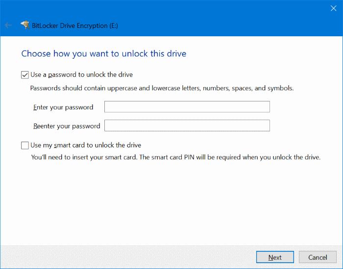 proteger con contraseña las unidades USB en Windows 10 pic2