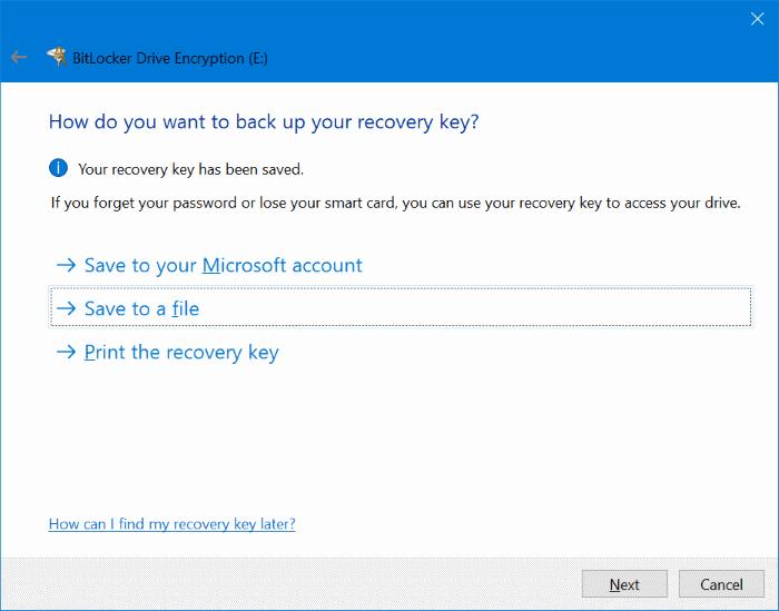 proteger con contraseña las unidades USB en Windows 10 pic3