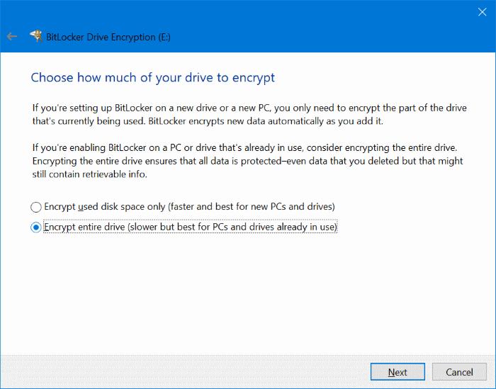 proteger con contraseña las unidades USB en Windows 10 pic4