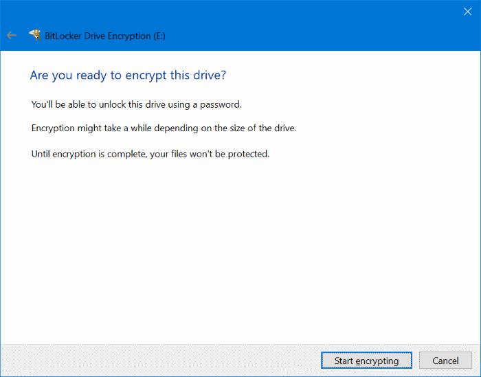 proteger con contraseña las unidades USB en Windows 10 pic6