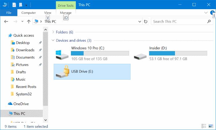 proteger con contraseña las unidades USB en Windows 10 pic8