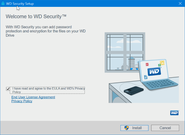 password protect Western digital external drives pic1