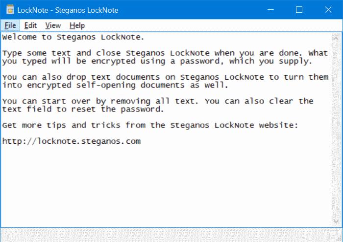 archivo de texto protegido por contraseña en Windows 10 pic1
