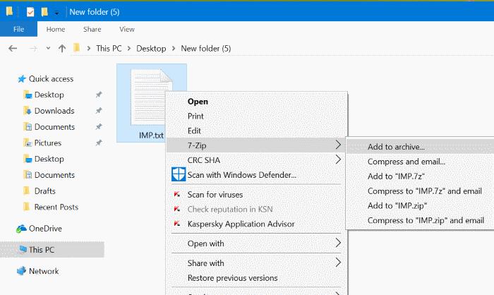 archivo de texto protegido por contraseña en Windows 10 pic6