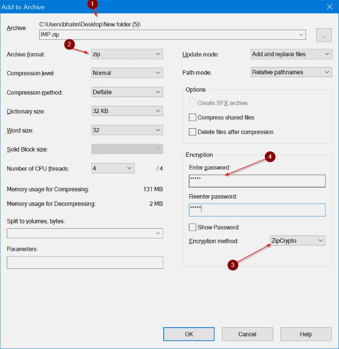 archivo de texto protegido por contraseña en Windows 10 pic7