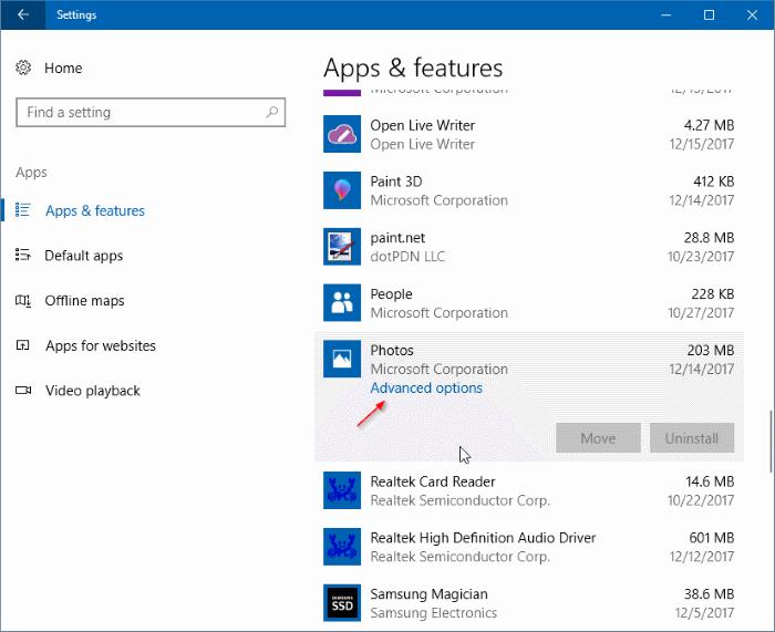 complemento de fotos para aplicaciones de fotos en Windows 10 pic1