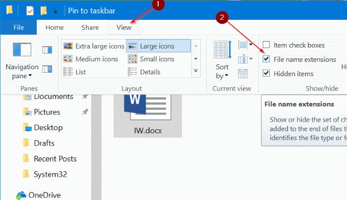 pin any file to Windows 10 taskbar pic2