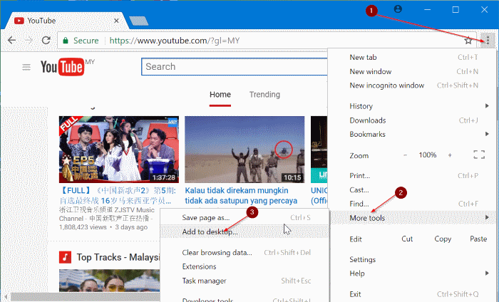pin google, youtube y gmail to Windows 10 taskbar pic5