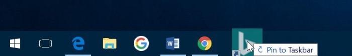 anclar sitios web a la barra de tareas en Windows 10 pic3