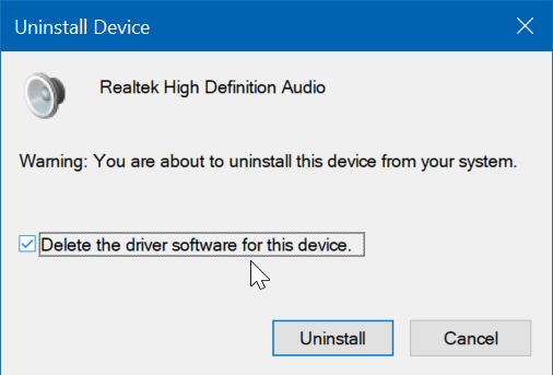 reinstall audio driver in Windows 10 pic5