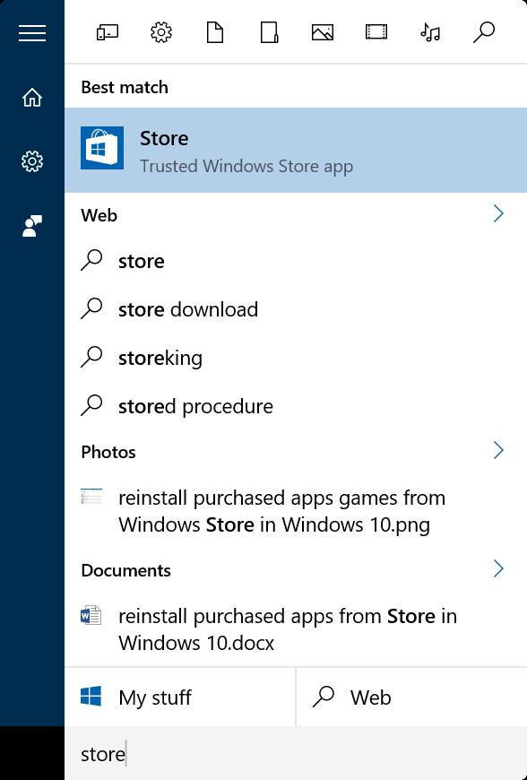 reinstalar juegos de aplicaciones comprados en Store en Windows 10 step1