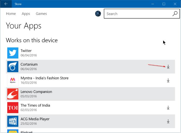reinstalar juegos de aplicaciones comprados en Store en Windows 10 step4