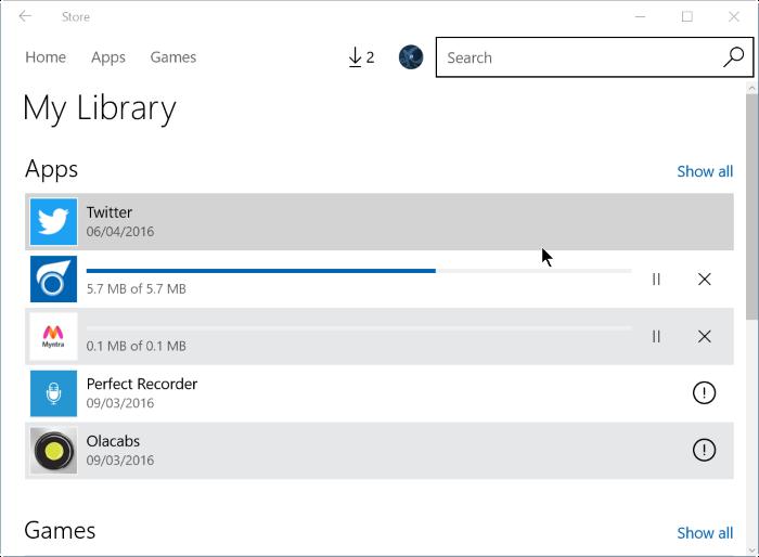reinstalar juegos de aplicaciones comprados en Store en Windows 10 step5